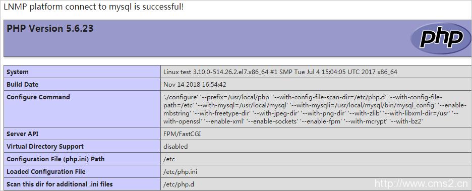 搭建LNMP环境(CentOS 7)插图10