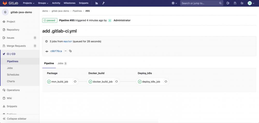 使用GitLab CI在Kubernetes服务上运行GitLab Runner并执行Pipeline插图18