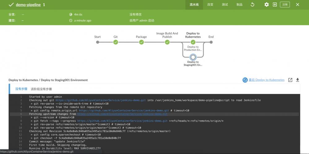 在Kubernetes服务上快速搭建Jenkins环境并完成应用构建到部署的流水线作业插图30
