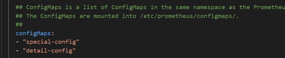 configmaps