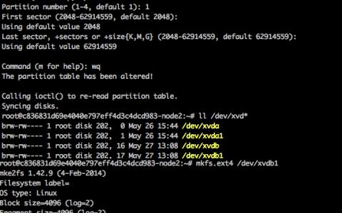 为容器服务的Docker增加数据盘