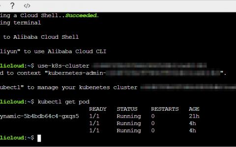 在CloudShell上通过kubectl管理Kubernetes集群